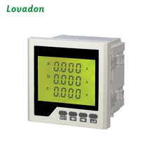 120*120mm Three Phase Types Of Energy Current Meters LCD Digital Ampere Meter