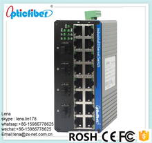 Managable 10g 12 port gigabit ethernet optical fiber switch