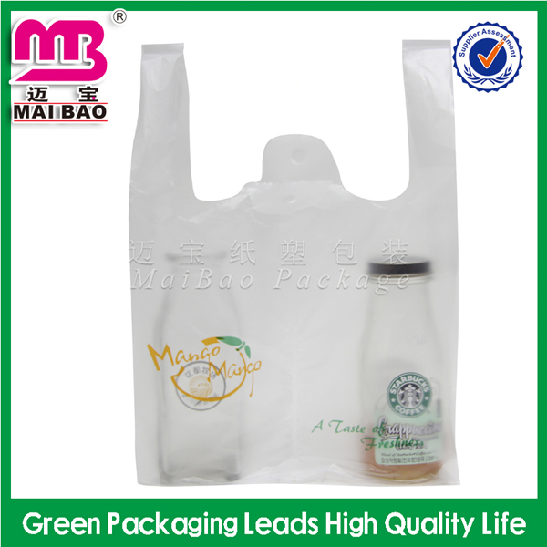 custom printed heat seal surface handling biodegradable plastic recycled bags