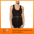 Women Transparent sexy vest with fastener decoration