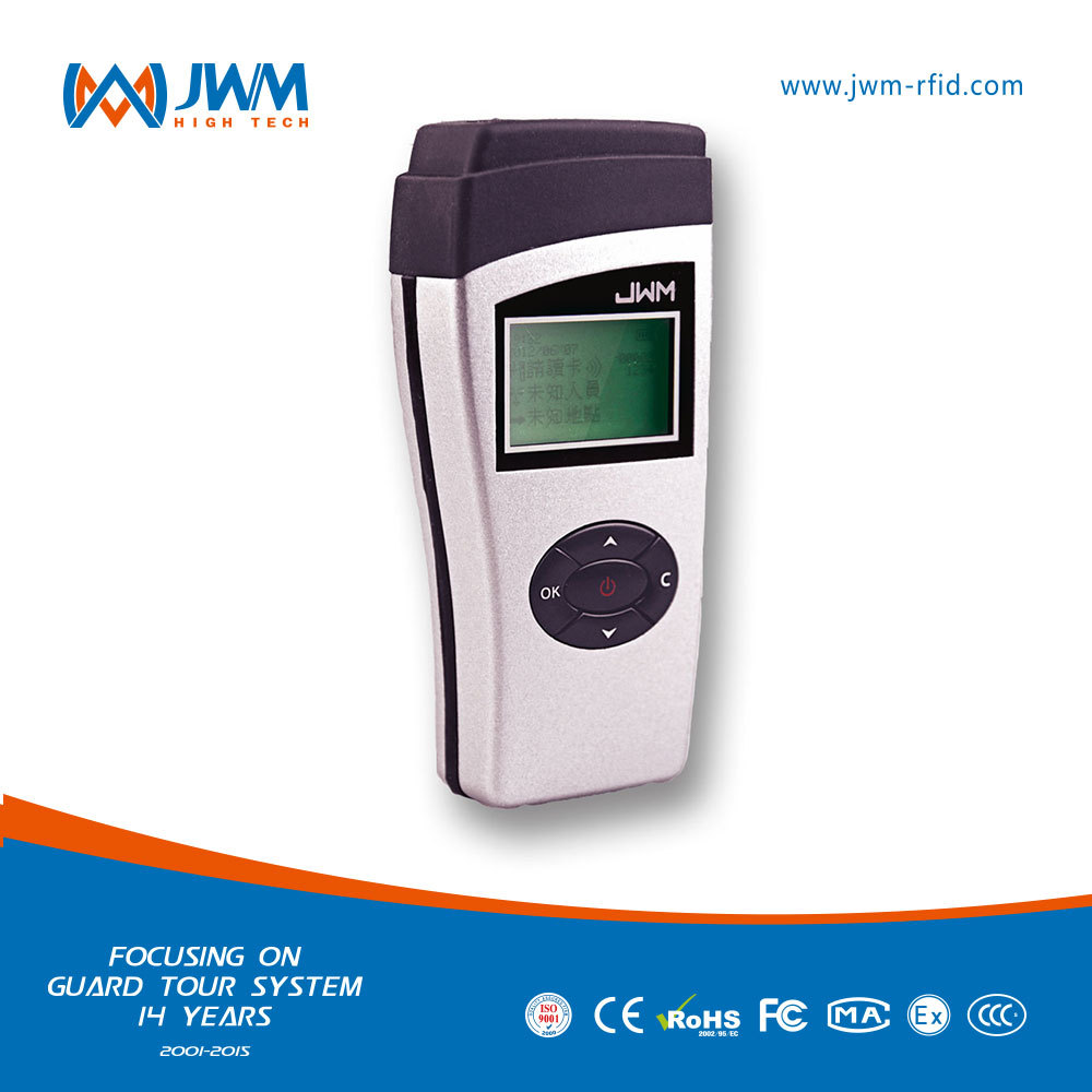 2015 HOT SALES JWM handheld guard patrolling rfid device with site navigation