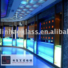 led bar side table, glass bar table