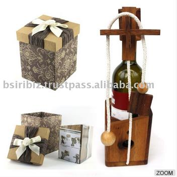 High Quality wine bottle puzzle Don't Break the Bottle