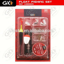 Fishing float accessory and float set and block and tackle