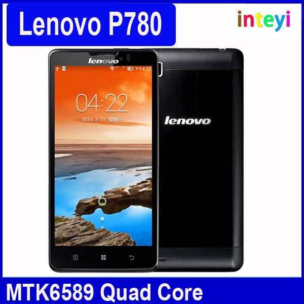 "Original Lenovo P780 MTK6589 Quad Core 5"" 1280x720 Android 4.2 Gorilla Glass1280x720 8.0MP 4000mAh Battery Cell Phones"