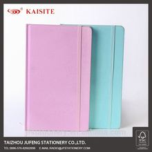 A5 agenda planner pu fabric cover notebook with elastic band