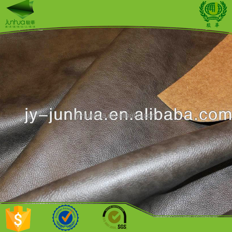 Upholstery sofa genuine leather fabric materials with 1.4-1.6mm thickness