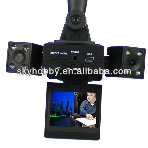 Dual Camera Car DVR CCTV Digital video Recorder Camcorder D80