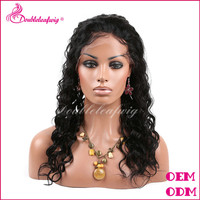 2014 hot selling 20% off brazilian human hair human hair grey lace front wig