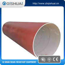 Chrome steel pipe for wear resistant alloy welding coated