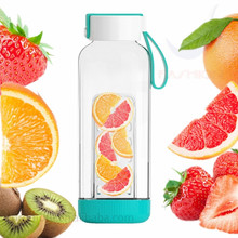 2016 Fashion Glass Water Bottle/ Infuser Fruit Water Bottle/ BPA Free Drinking Water Bottle