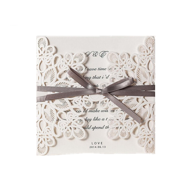Hot sale in stock handmade 25th roll wedding anniversary invitation card