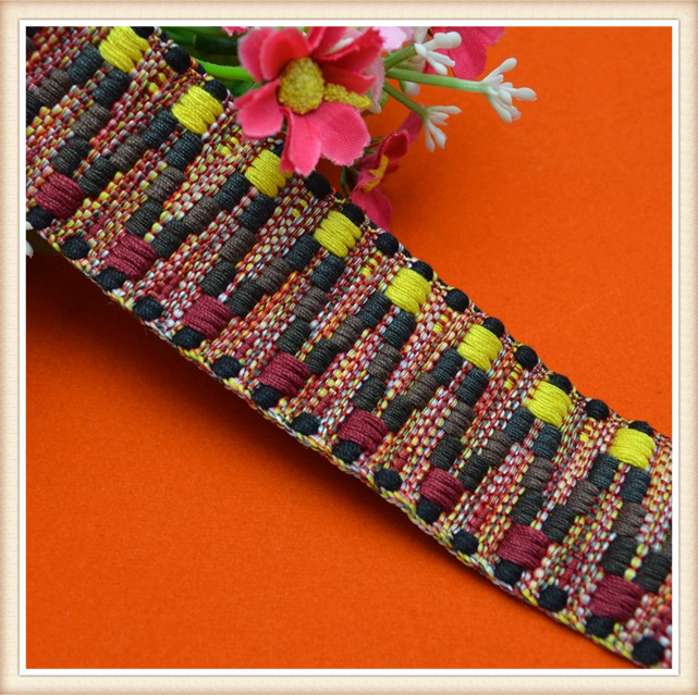 high quality thick custom machinemade attractive ribbon coloured embroidered ribbon ribbon work embroidery designs