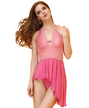 China Factory Price Negligee Sexy Lingerie Showing Nipples Bra and Panty Sexy Babydoll for Women