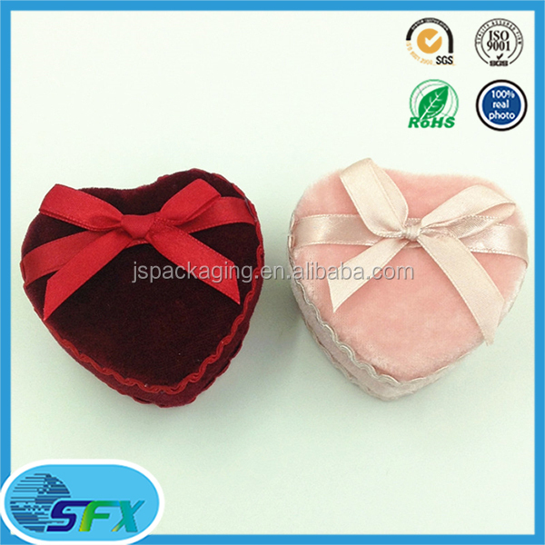 biodegradable velvet gift box manufacturer heart shape cardboard gift box gift box for jewelry