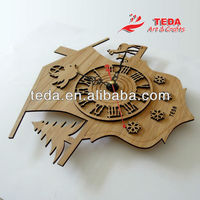 Home Decoration Bamboo wood wall clock