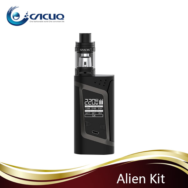 vape accessories new products 220W Smok Alien 220 with 2pcs 18650 Battery Capacity