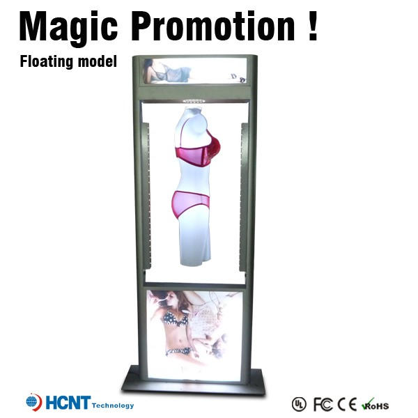 Floating Female clothes digital advertising led display