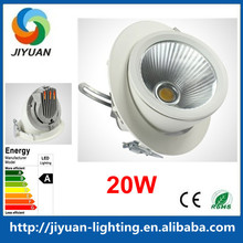 90 degree flexiable cob 20w led trunk light/gimbal downlight CRI>80