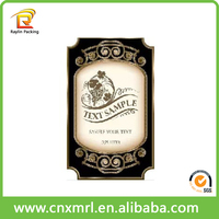 Promotional wine glass bottle label,roll adhesive sticker wine label printing