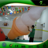 Hot Sale PVC Promotional Inflatable Ice Cream Cone / Outdoor 5m Inflatable Ice Cream Model For Advertising