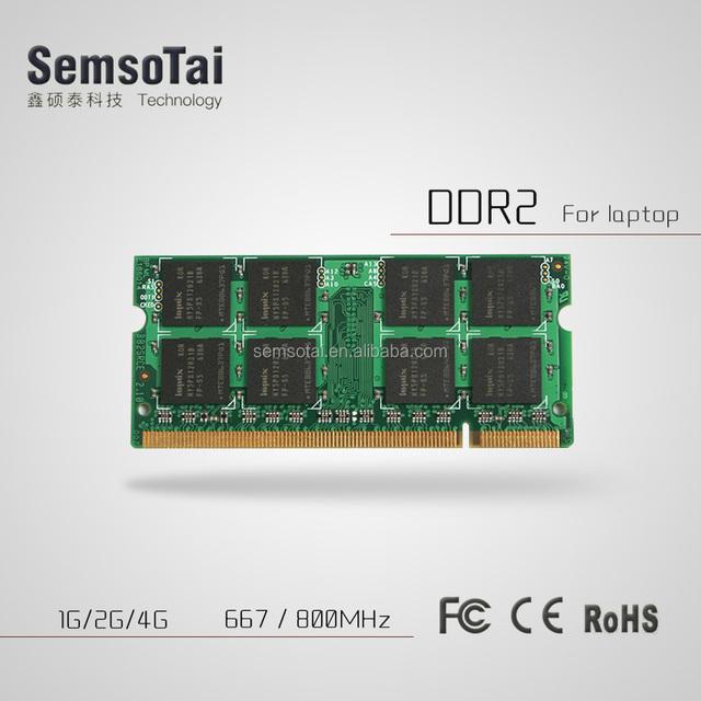 2018 Wholesale DDR2 1gb 2gb 4gb 8gb 533mhz 667mhz 800 800mhz 1333mhz 1600mhz laptop ram memory chip pc sodimm ddr2