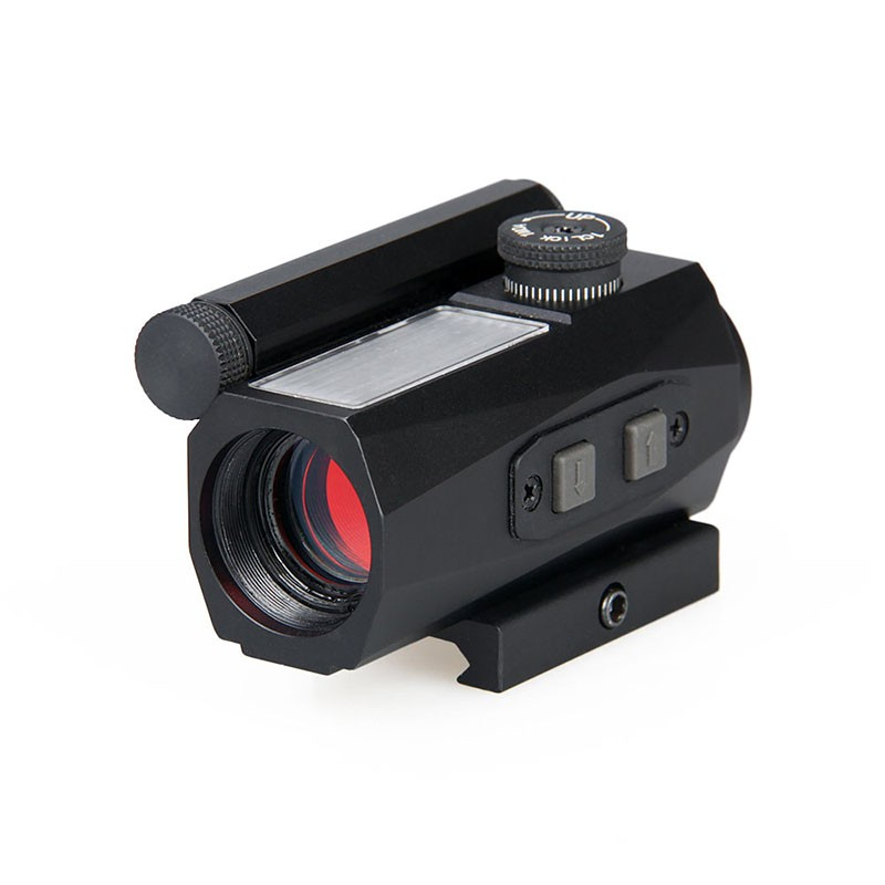 tactical 1x20 solar red dot scope reflex sight fits 20mm rail for rifle scope for hunting