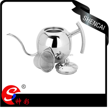 Good quality stainless steel tea pot with handle