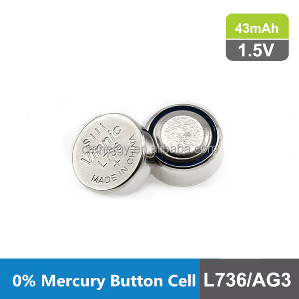 Primary Button cell without Mercury L736F 1.5V 43mAh