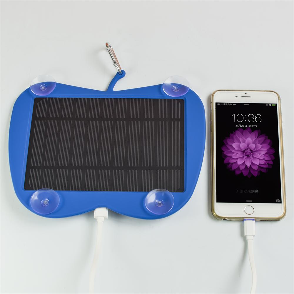 2016 new product 3W waterproof solar mobile phone charger