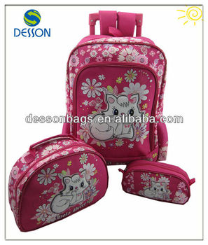 Stylish School Bag Present For Girl-Enchanting Cat
