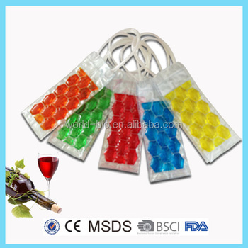 Popular Color Customized PVC Foldable Wine Cooler Bag