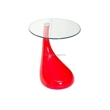 T001 Glass top marble base dining table