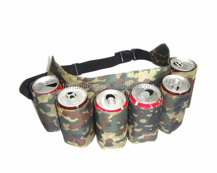 Outdoor durable beer cans waist bag camping beverage cooler bag