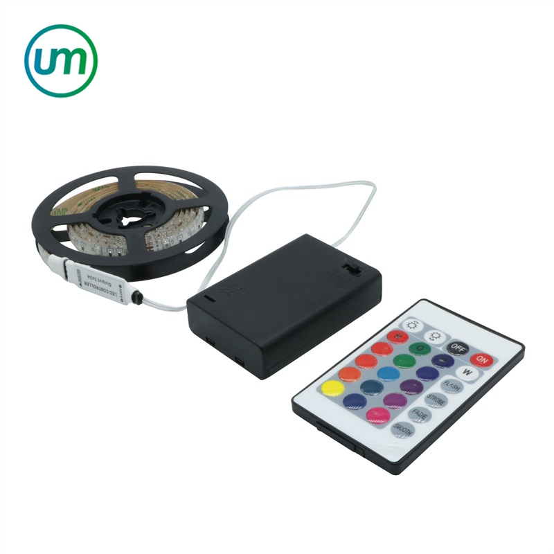 Battery Powered With Remote LED Strip 3528 SMD RGB Waterproof Flexible LED Strip String Light
