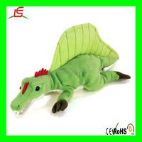 LE B0256 2016 new design green big spinosaurus dinosaur plush stuffed toy