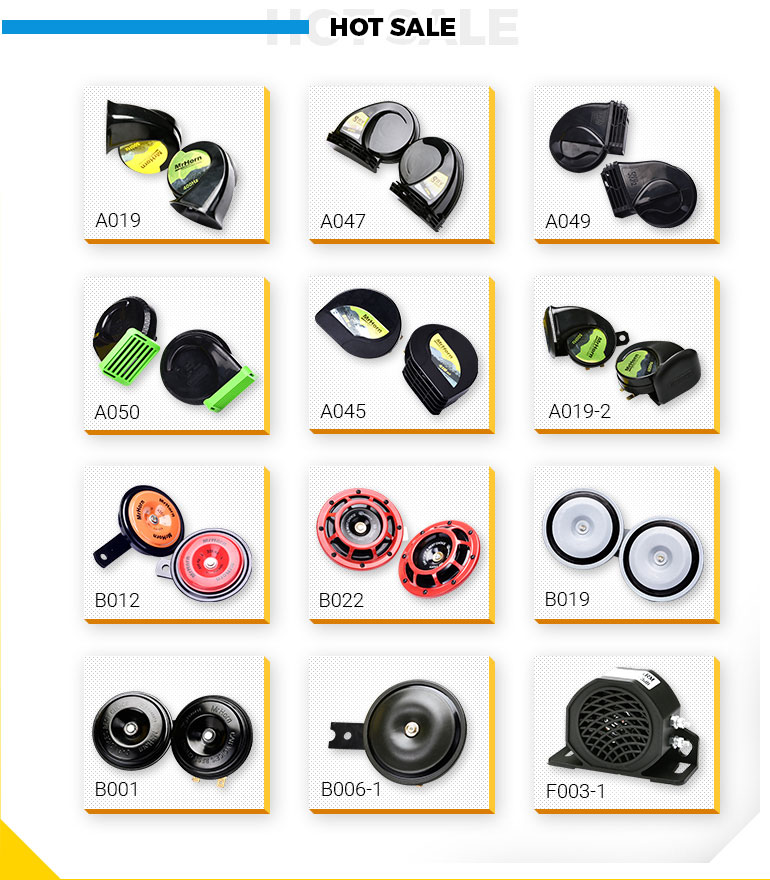 Snail horn12V high quality high and low tone car horn for CAR