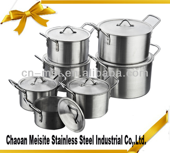 aluminum cookware pot sets with handles