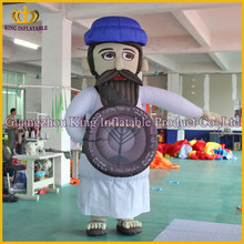 China giant customized inflatable man with mastache,hot sale inflatable cartoon