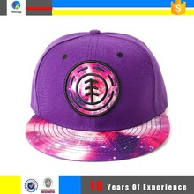 flat round brim snapback hat with cloused back
