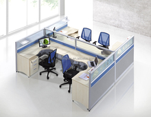 China Factory 60mm Thickness Aluminum Frame Partition 4 Seats Cubicle Call Center Workstationure Workstation