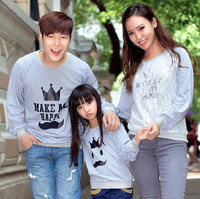 New Wholesale Long Sleeve Casual Hoodies Mom Dad Baby Clothes Sets For Family Matching Clothes SW81214-11