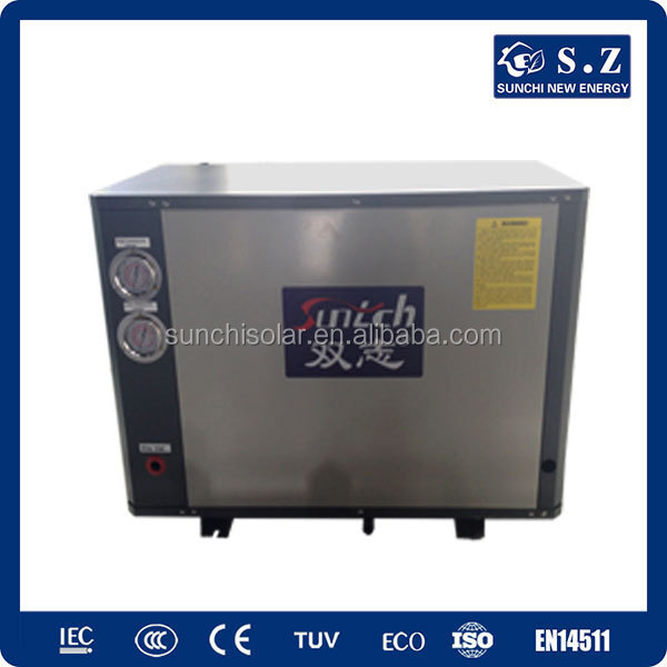 Working -25C cold winter area 10kw/15kw/20kw/25kw produce 55C hot water underground heat pump water heater
