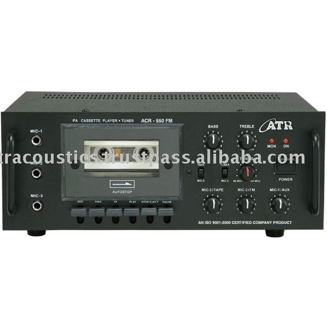 PA Cassette Recorder Amplifier with FM Tunner, ACR 550 FM