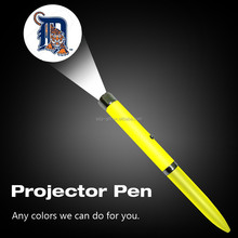 LED projector ballpoint pen with LOGO project,novelty led logo pen for promotion advertising items