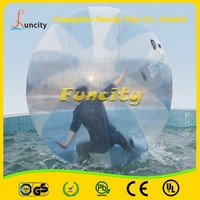 PVC material 1.0mm tickness inflatable aqua ball/inflatable floating ball/human sphere water ball walking