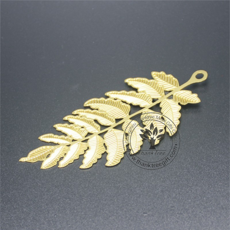 metal souvenir gift personalized laser cutting metal leaf fancy gift bookmark