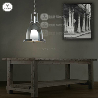Caren loft dining room modern european industrial metal in chorme shade pendan lamp P6106-1B