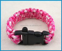 fashion 750 paracord jewelry football team paracord survival bracelet