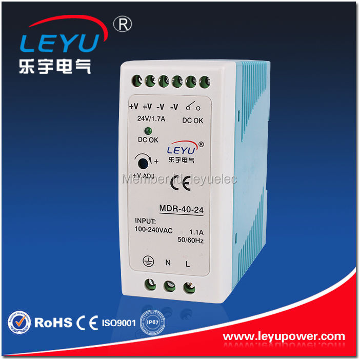 LEYU Din Rail power supply MDR-40-48 40w 48v single output switching power supply